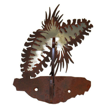 Burnished Pine Cone Double Metal Wall Hook
