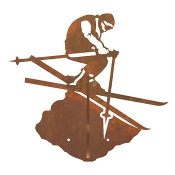 Skier Double Metal Wall Hook