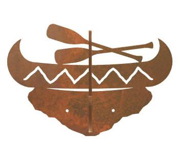 Canoe Double Metal Wall Hook