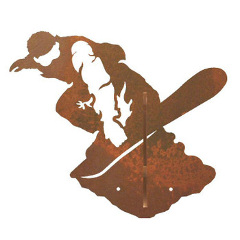 Snowboarder Double Metal Wall Hook