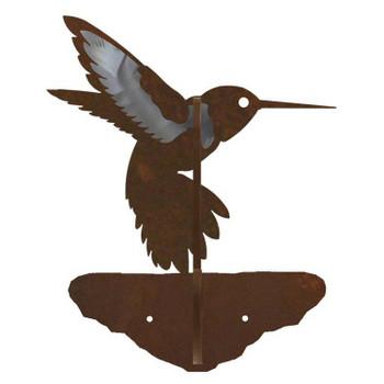 Hummingbird Burnished Double Metal Wall Hook