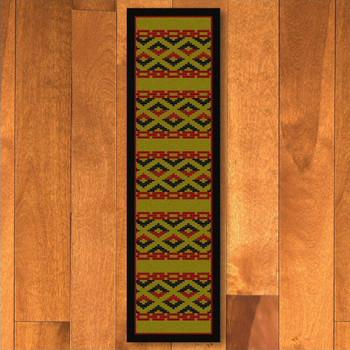 2' x 8' Basket Weave Dark Chocolate Cherokee Rectangle Runner Rug