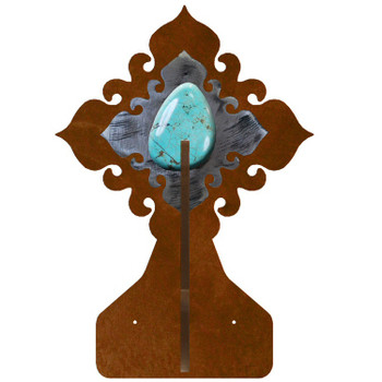 Turquoise Stone Double Metal Wall Hook