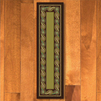 2' x 8' Rolling Water Multi Color Cherokee Rectangle Runner Rug