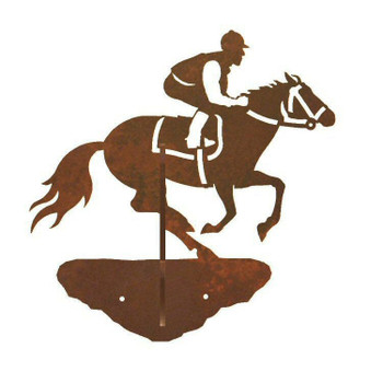 Derby Horse Racer Double Metal Wall Hook