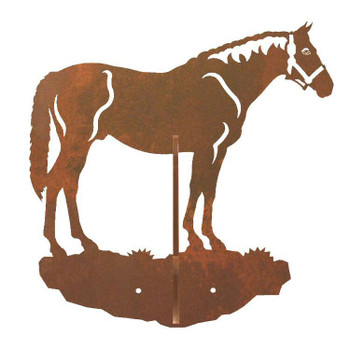 Bay Horse Double Metal Wall Hook