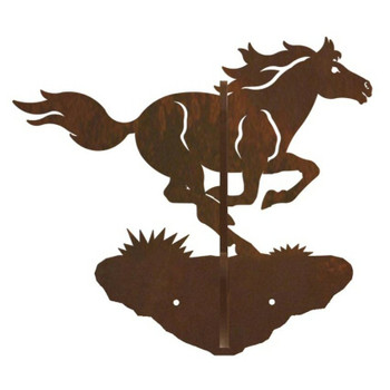 Running Horse Double Metal Wall Hook