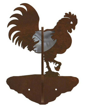 Rooster Burnished Double Metal Wall Hook