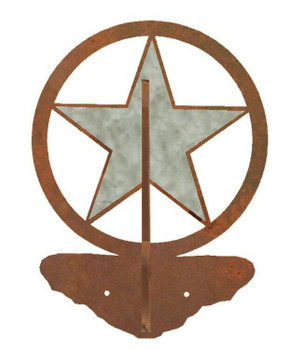 Burnished Texas Star Double Metal Wall Hook