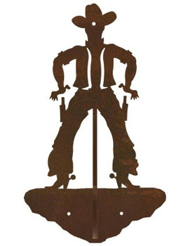 Cowboy Drawing Pistol Double Metal Wall Hook
