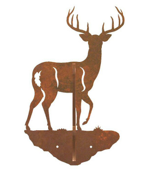 Whitetail Deer Double Metal Wall Hook