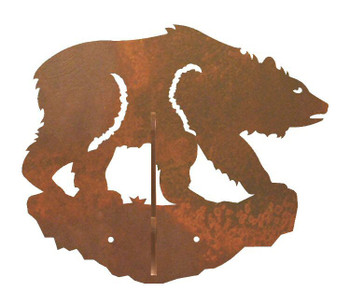 Brown Bear Double Metal Wall Hook