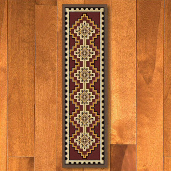 2' x 8' Council Fire Red Southwest Rectangle Runner Rug