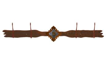 Unakite Stone Four Hook Metal Wall Coat Rack