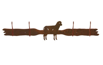 Sheep Four Hook Metal Wall Coat Rack