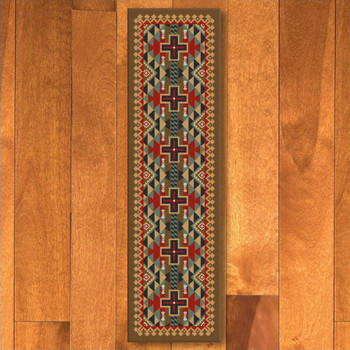2' x 8' Tribesman Kilim Southwest Rectangle Runner Rug