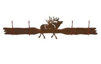 Elk Four Hook Metal Wall Coat Rack