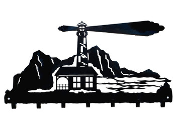 Lighthouse Metal Wall Key Rack