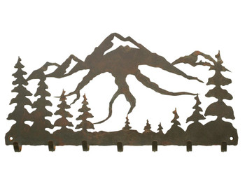 Mountain Scene Metal Wall Key Rack