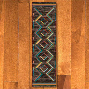 2' x 8' Hour Glass Bright Southwest Rectangle Runner Rug
