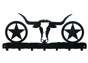 Longhorn Steer Metal Wall Key Rack