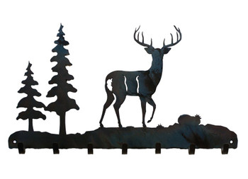 Deer Metal Wall Key Rack
