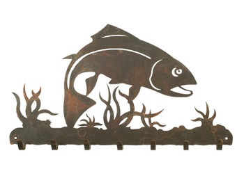 Trout Fish Metal Wall Key Rack