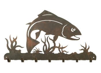 Trout Fish Metal Wall Key Rack