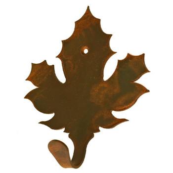 Maple Leaf Small Single Metal Wall Hook