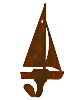 Sail Boat Small Single Metal Wall Hook