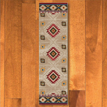 2' x 8' Whisky River Natural Southwest Rectangle Runner Rug