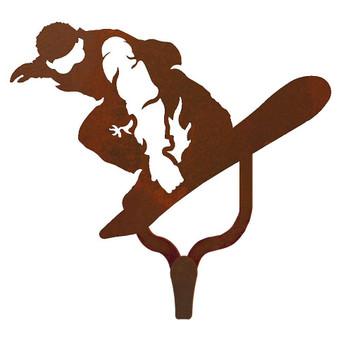 Snowboarder Large Single Metal Wall Hook