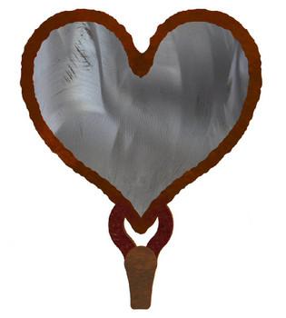 Heart Burnished Large Single Metal Wall Hook