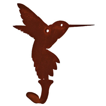 Hummingbird Small Single Metal Wall Hook