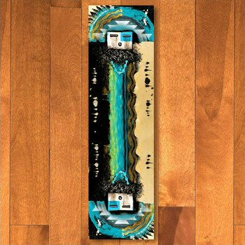 2' x 8' Boogie Blue Navajo Style Rectangle Runner Rug