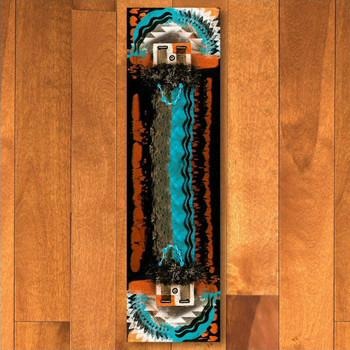 2' x 8' Boogie Rust Navajo Style Rectangle Runner Rug
