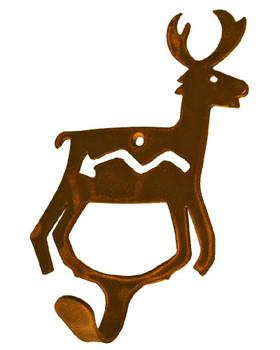Fetish Deer Small Single Metal Wall Hook