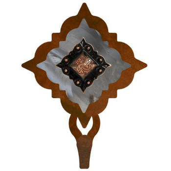 Burnished Diamond Copper Berry Concho Large Single Metal Wall Hook