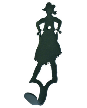 Cowgirl Small Single Metal Wall Hook