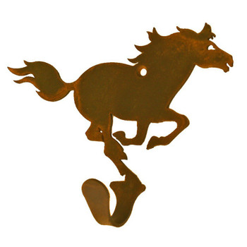 Running Horse Small Single Metal Wall Hook