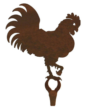 Rooster Large Single Metal Wall Hook