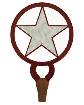 Texas Star Burnished Large Single Metal Wall Hook