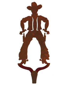 Cowboy Large Single Metal Wall Hook