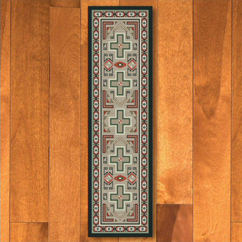 2' x 8' Sawtooth Raincloud Southwest Rectangle Runner Rug