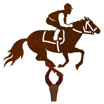 Derby Horse Racer Large Single Metal Wall Hook
