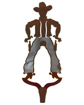 Cowboy Burnished Large Single Metal Wall Hook