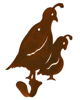 Quail Birds Small Single Metal Wall Hook