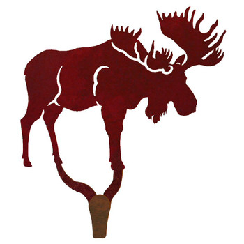 Moose Large Single Metal Wall Hook
