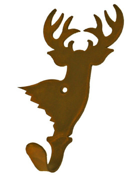Deer Small Single Metal Wall Hook