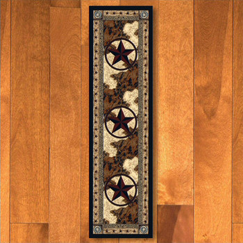 2' x 8' Ranger Hideout Western Star Rectangle Runner Rug